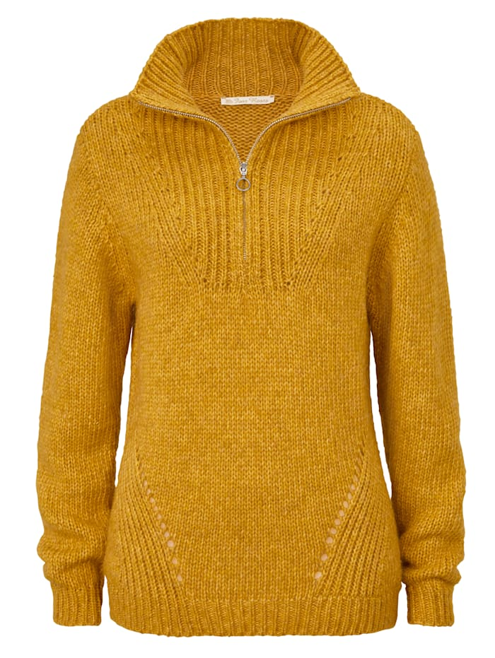 Four Roses Pullover, Gelb