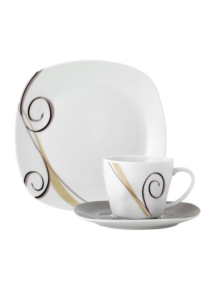 Van Well 18-d. kávová súprava, Biela