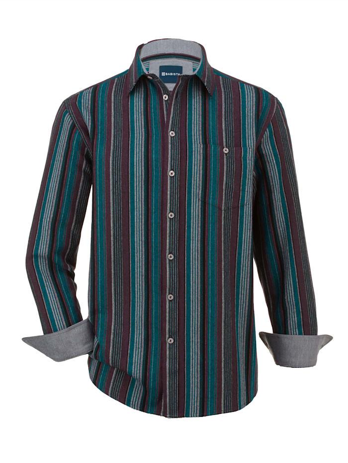 BABISTA Overhemd met superzachte touch, Petrol/Bordeaux