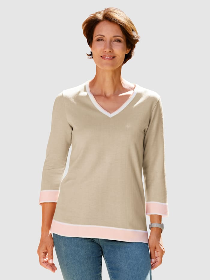 Paola Pull-over aux finitions contrastantes, Caillou