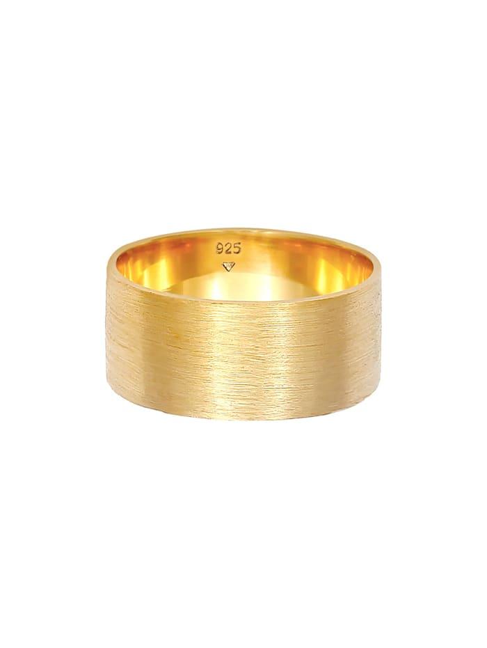 Ring Bandring Breit Matt Gebürstet Basic 925 Silber