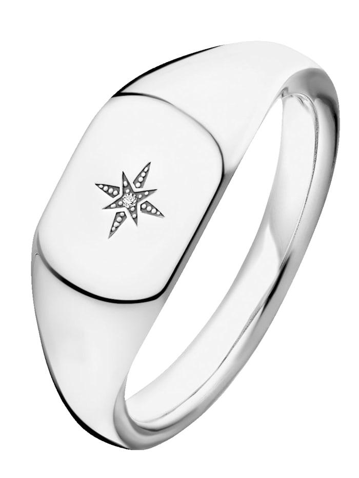 Thomas Sabo Damenring mit Diamant Thomas Sabo D_TR0038-725-14, Weiß