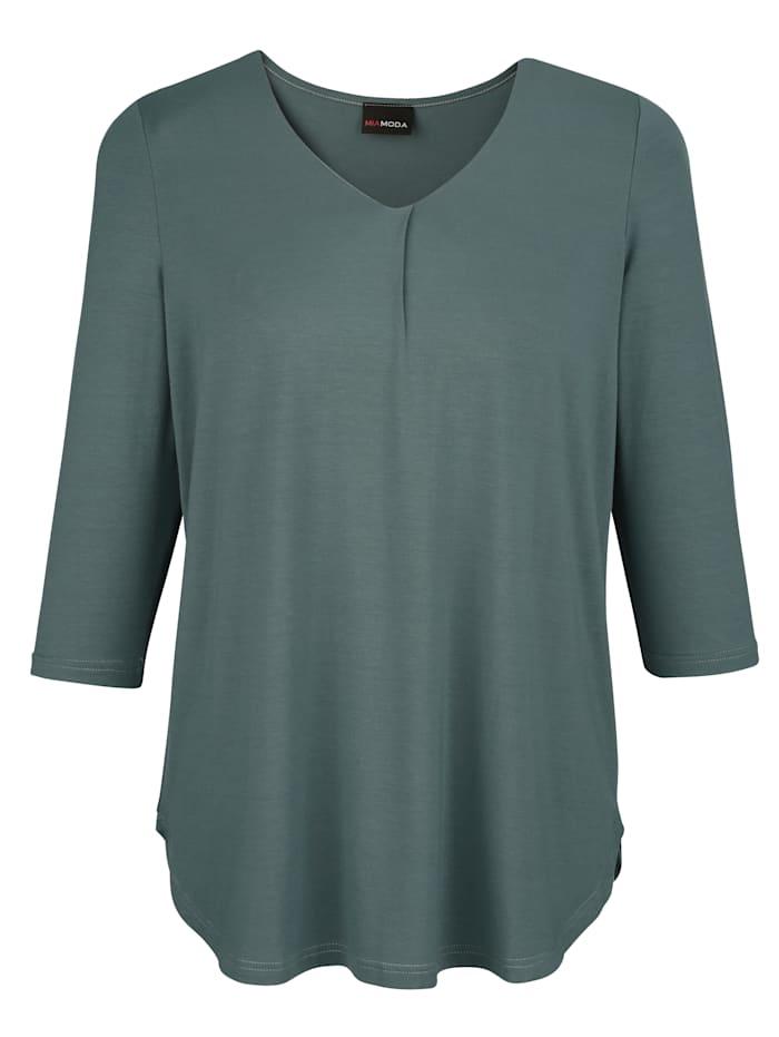 Tričko s dekoratívnym záhybom na výstrihu