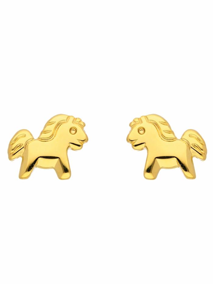 1001 Diamonds 1001 Diamonds Damen Goldschmuck 333 Gold Ohrringe / Ohrstecker Pferd, gold