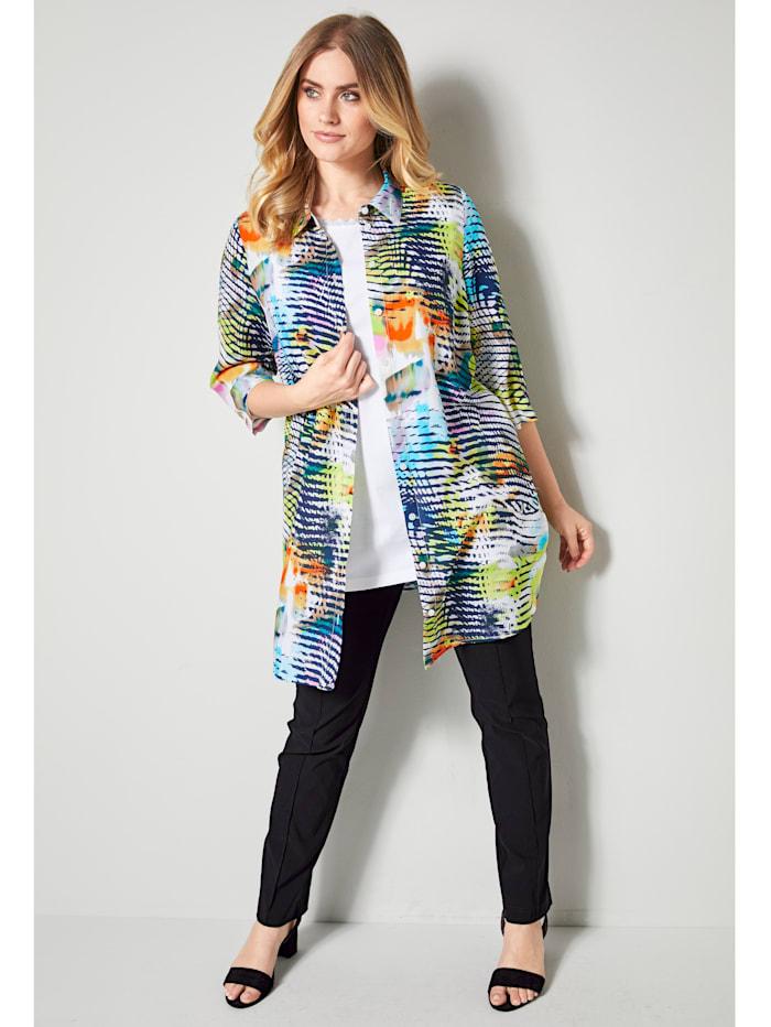 MIAMODA Blouse met omslagmouwen, Multicolor
