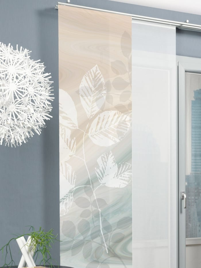 Home Wohnideen Panneau japonais 'TOUPILLON', Vert/marron