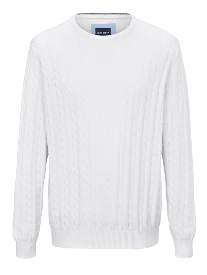 BABISTA Pulovr z čisté bavlny, Bílá