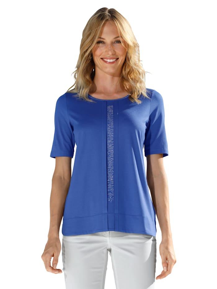 AMY VERMONT Shirt met glittersteentjes, Royal blue
