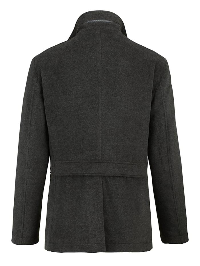 Jacke mit abnehmbarer Innenblende und Kragen