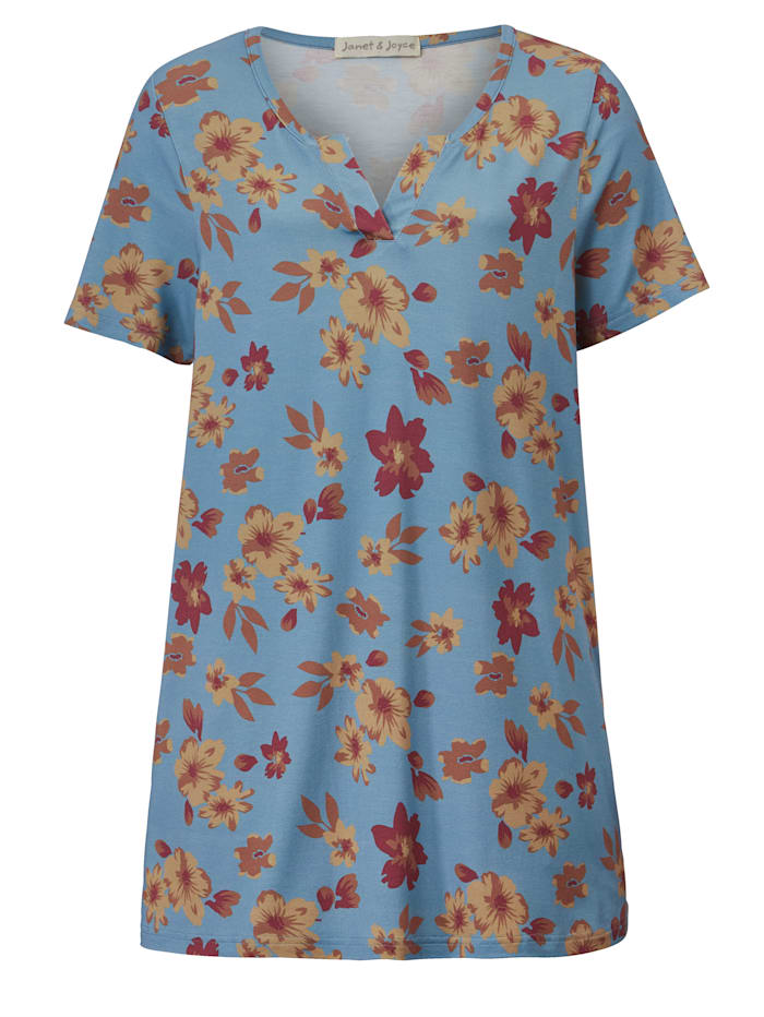 Tunika-Shirt mit floralem Druck