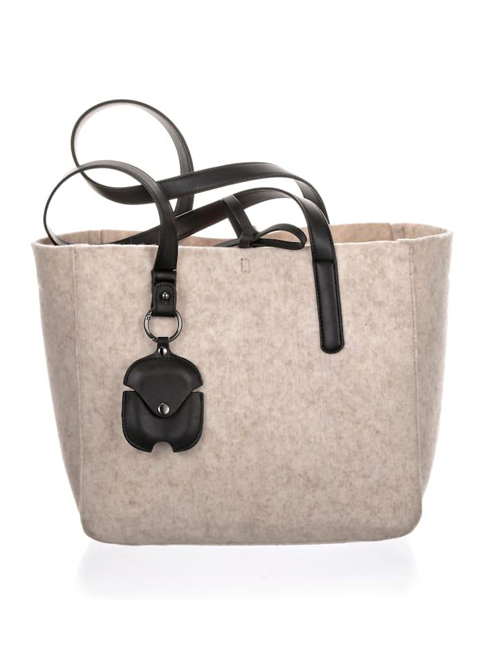 SURI FREY Tasche aus Filzmaterial 2-teilig, Creme-Weiß