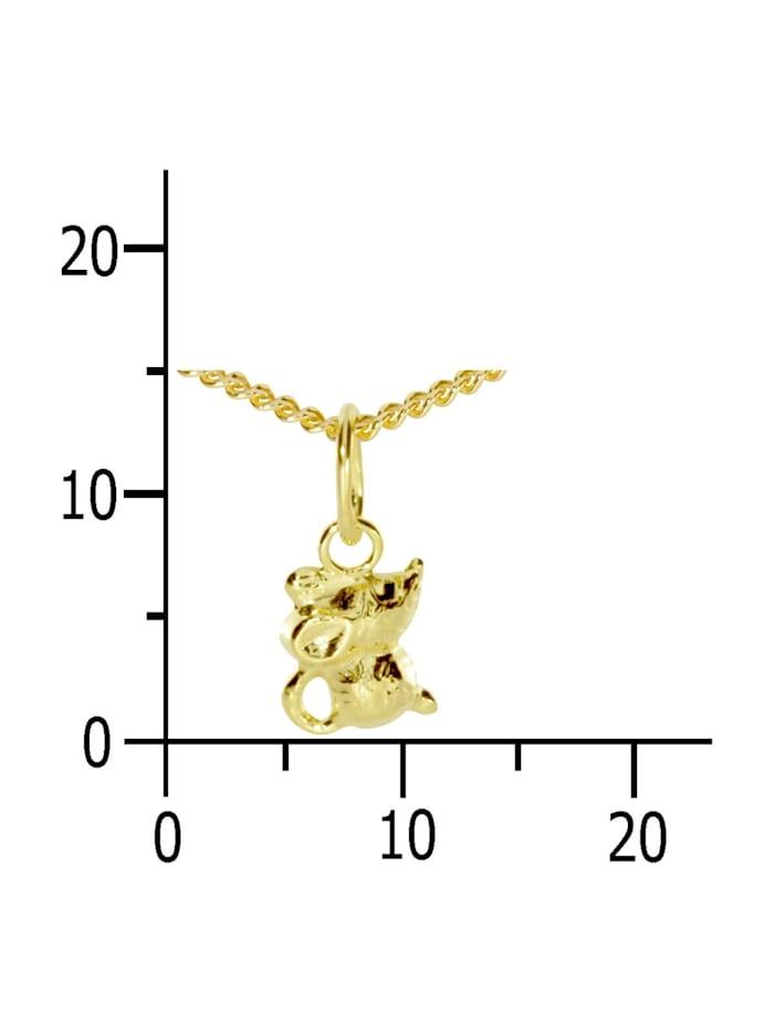 Kette mit Anhänger - Mäuschen - Gold 333/000 - ,