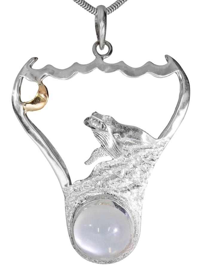1001 Diamonds Damen Schmuck  Anhänger 925 Silber bunt Mond, bunt