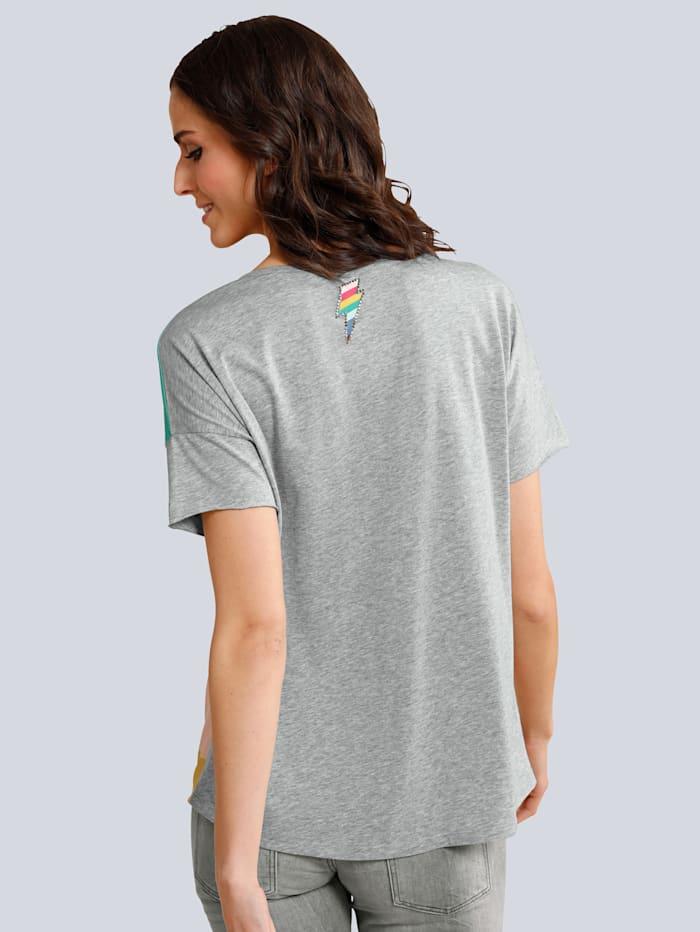 Shirtbluse mit farbbrilliantem Druck