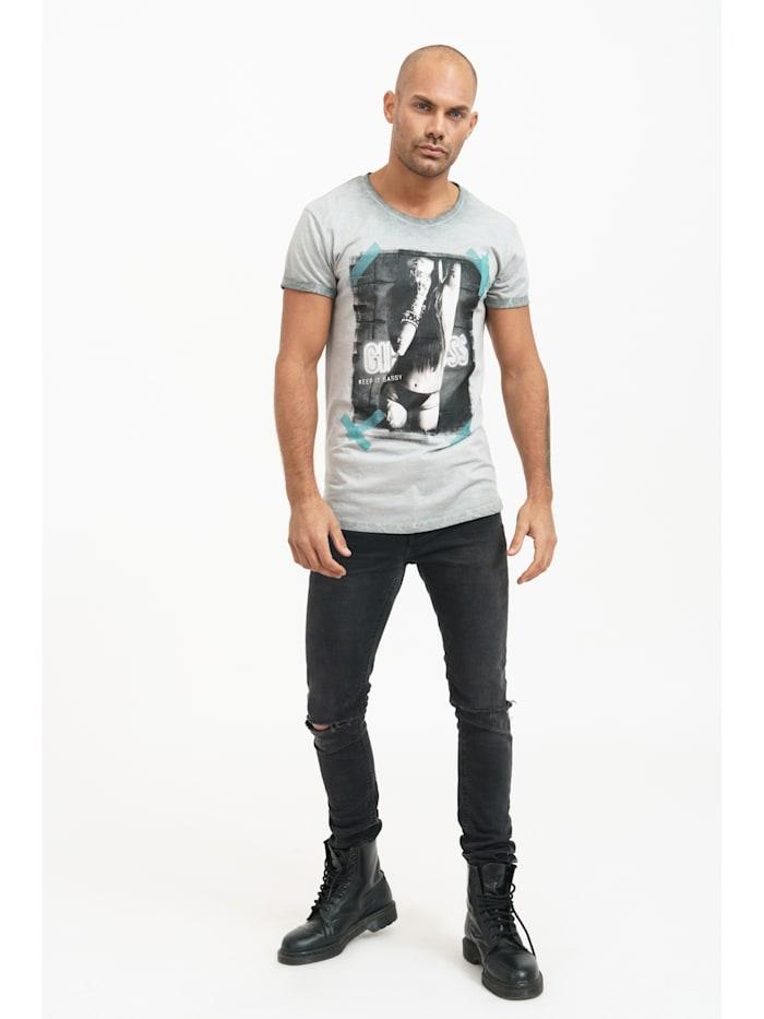 trueprodigy T-Shirt Grant mit ansprechendem Print, 5203-Darkgrey