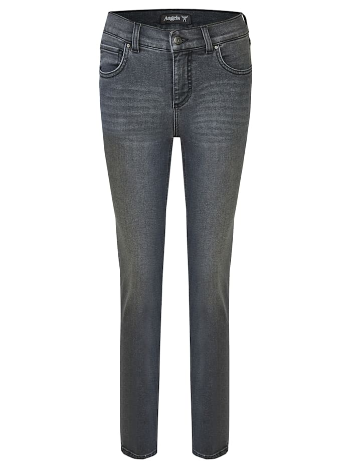 Angels Jeans ,Skinny' in schmalem Schnitt, grey used buffi crinkle