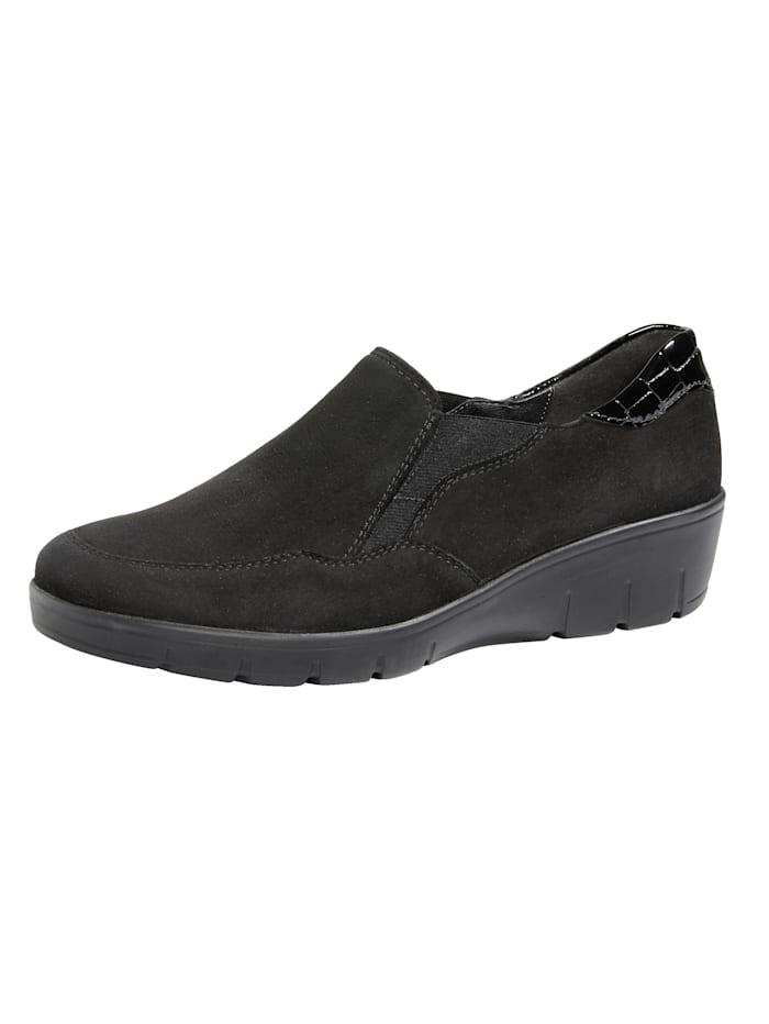 Semler Leveälestiset kengät, Musta