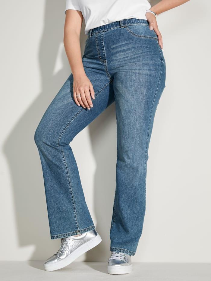 MIAMODA Džínsy s rozšírenými nohavicami, Blue stone