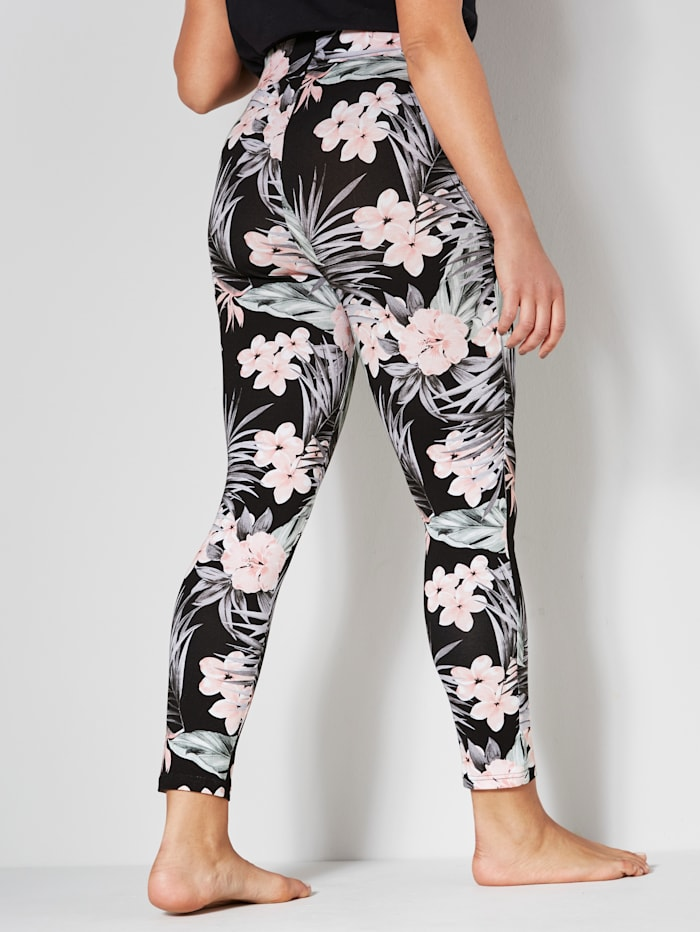 Leggings med blommigt mönster