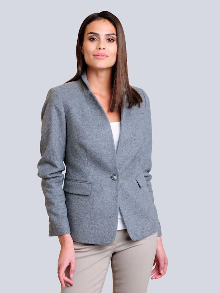 Alba Moda Blazer mit Woll-Anteil, Grau