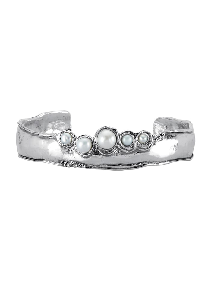 AMY VERMONT Spangarmband met cultivé zoetwaterparels, Wit