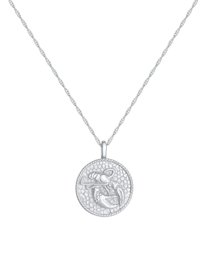 Halskette Sternzeichen Krebs Münze 925 Silber