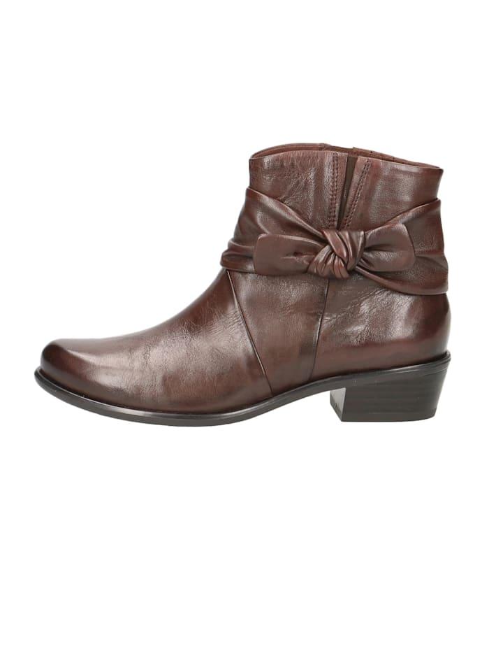 Damen Leder Siefelette Ankle Boot 9-25360 342 DK Brown Soft Braun