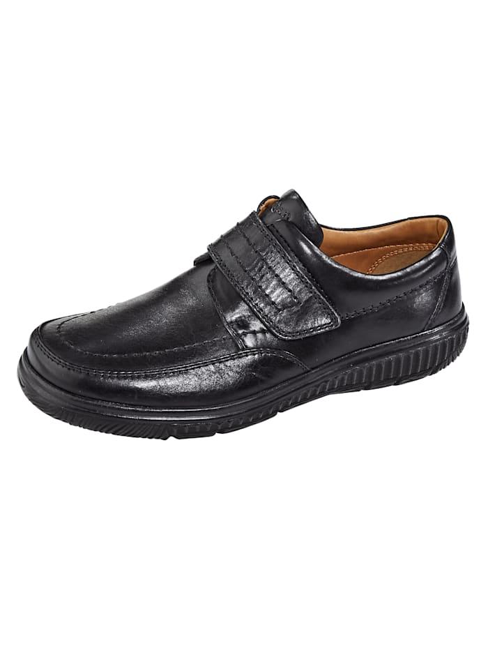 Klittenbandschoen in klassiek model, Zwart
