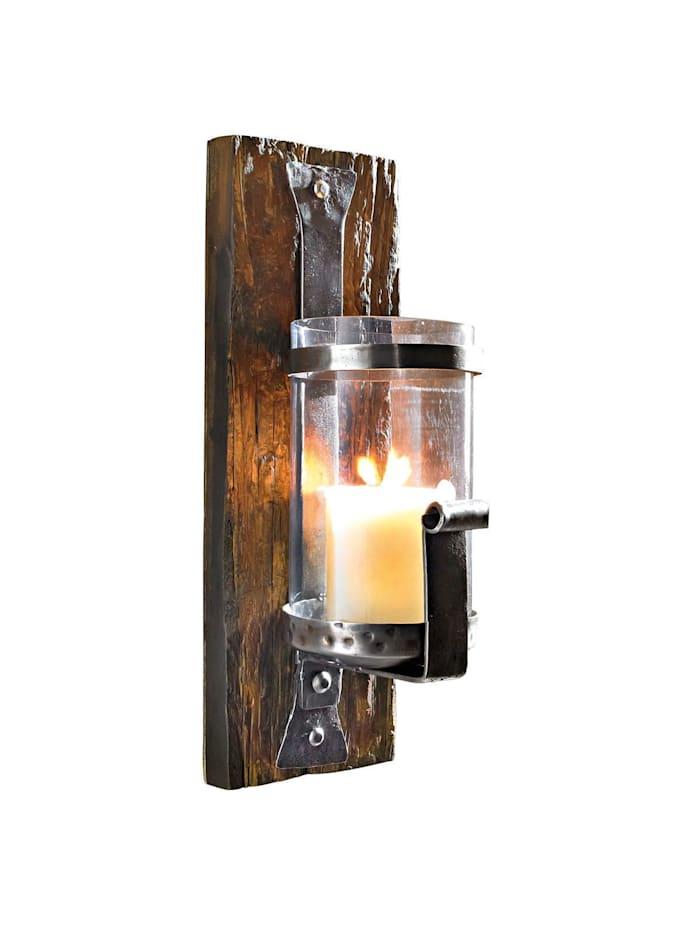 Living Wand-Kerzenhalter, Braun