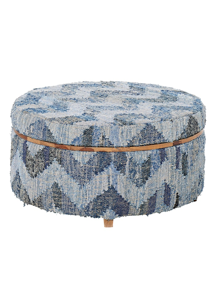 IMPRESSIONEN living Couchtisch optional Hocker, Blau-grau