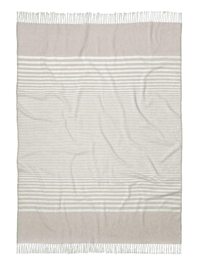 Tom Tailor Jacquard Decke Kati, Weiß