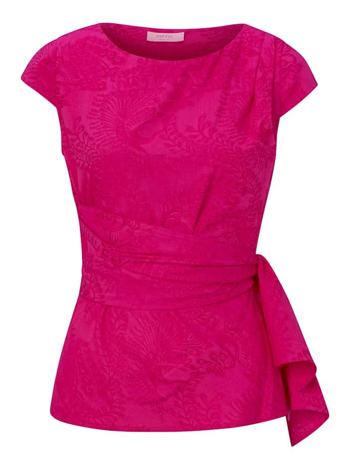 SIENNA Jacquardbluse, Pink