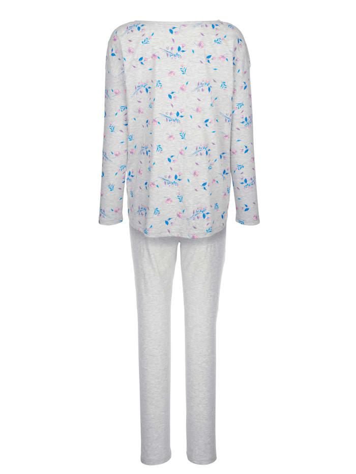 Pyjama met gedessineerde achterkant