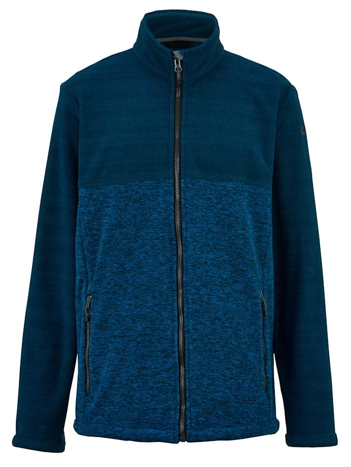 Killtec Pletená flísová bunda, Modrá/Nočná modrá