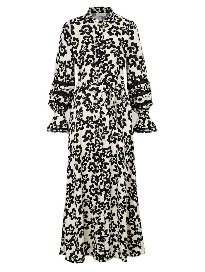 Fabienne Chapot Kleid mit Blumenprint, Off-white