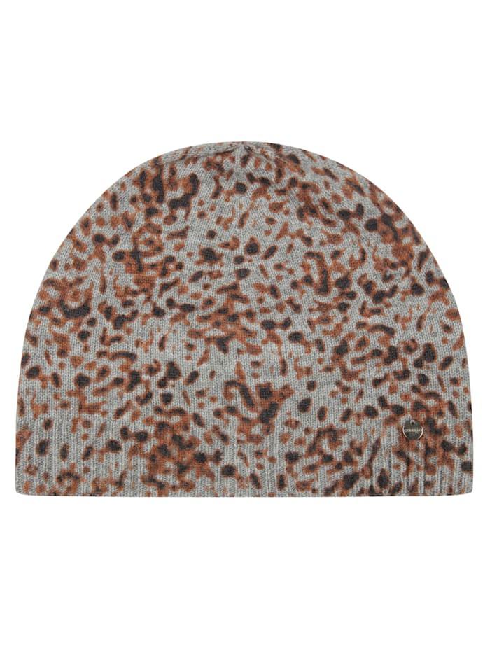 Codello Premium Leo-Mütze mit Wolle und Kaschmir, grey