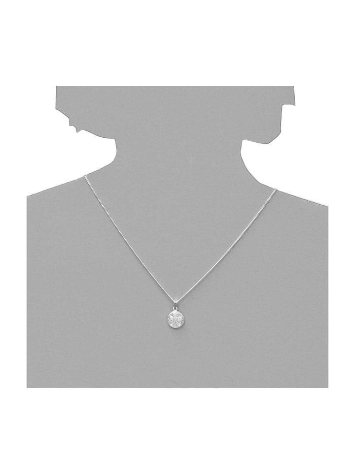 Anhänger - Hiddensee 13 mm rund - Silber 925/000 - ,