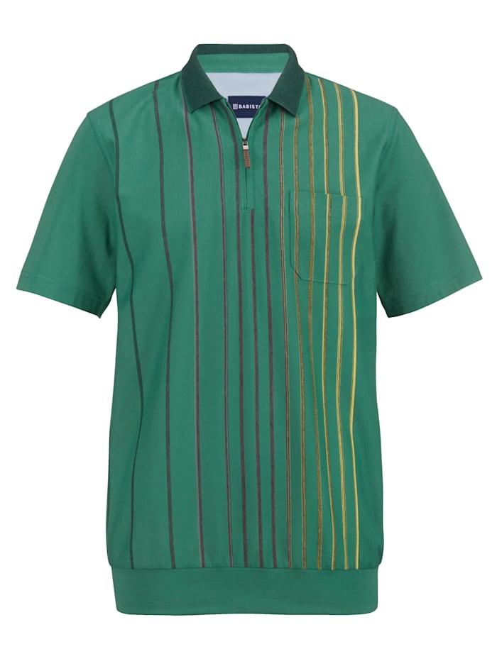 BABISTA Rypistymätön resorihelmainen paita, Vihreä