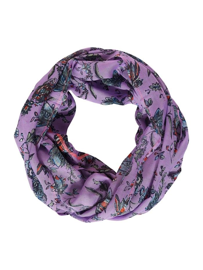 Cecil Zarter Loop mit Blumenprint, soft violet