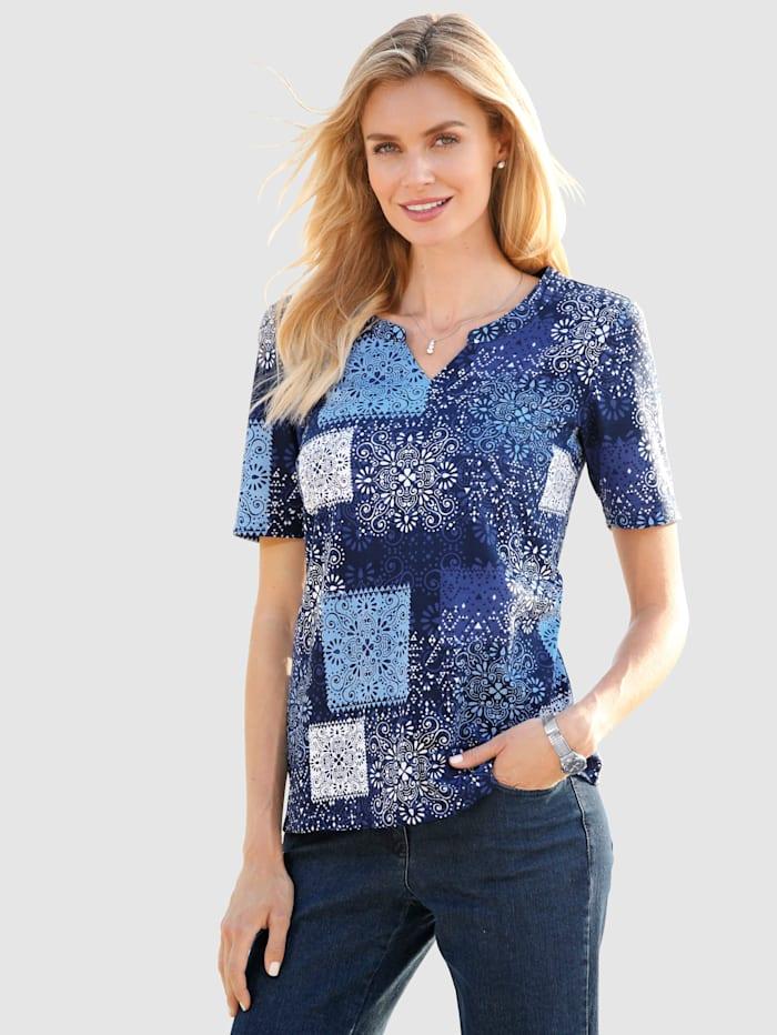 Shirt met patchworkmotief