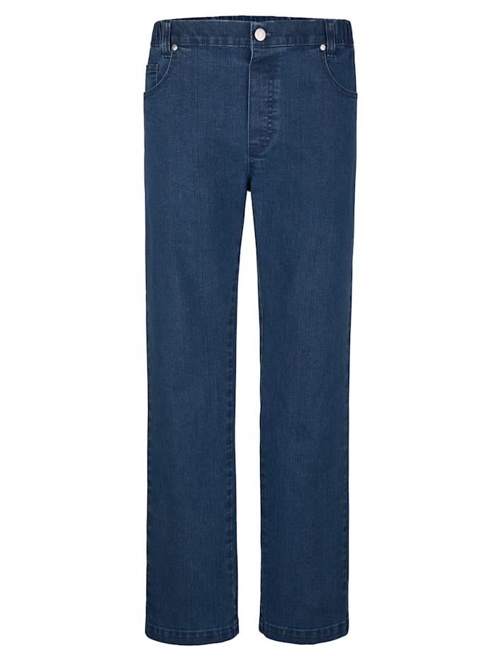 Roger Kent 5-Pocket Jeans mit elastischem Bund, Blue stone