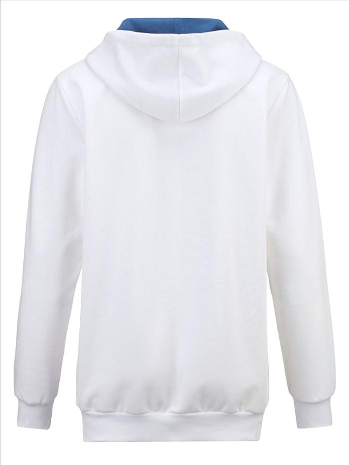 Sweat-shirt à capuche en pur coton