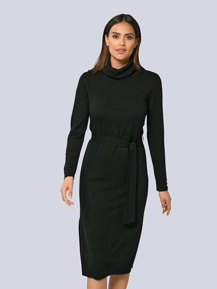 Alba Moda Strickkleid aus edler Merinowolle, Schwarz