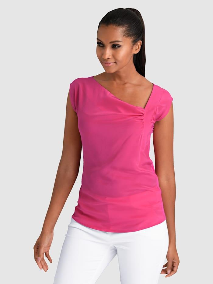 Alba Moda Topje van een mooie materialenmix, Pink