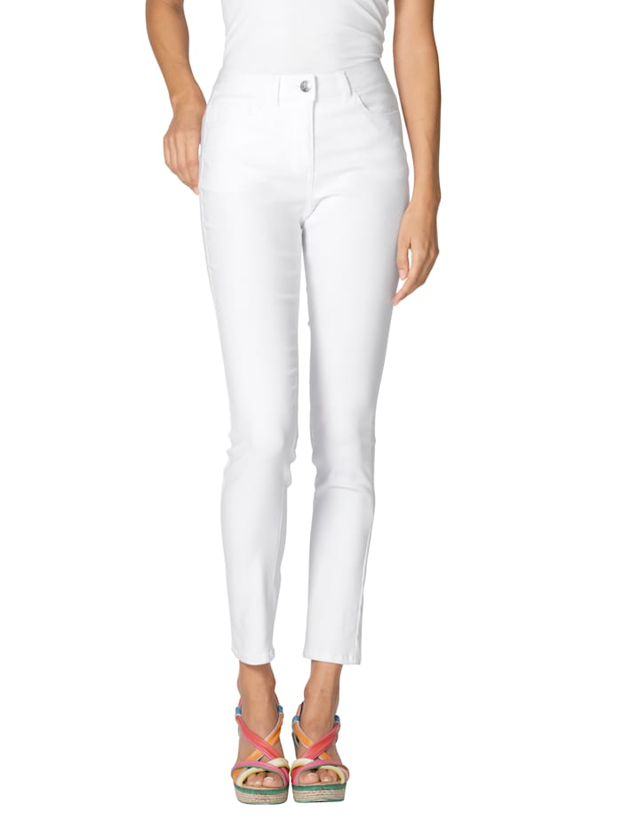 AMY VERMONT Jeans van elastisch materiaal, Wit