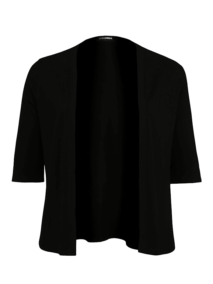 Doris Streich Jacke mit 1/2-Arm Ton-in-Ton-Nähte, schwarz