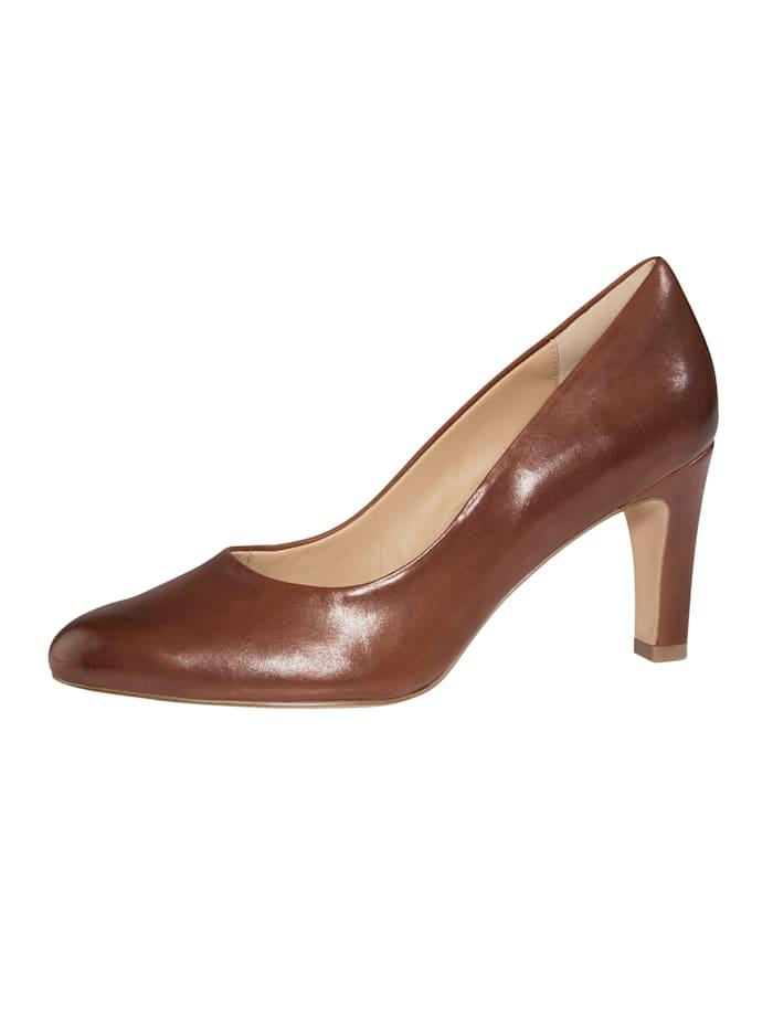 MONA Court shoes, Cognac