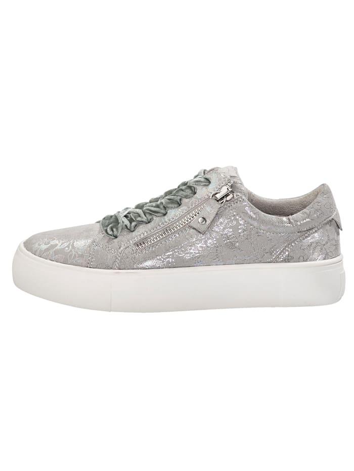 Sneakers à plateau avec glissière côté