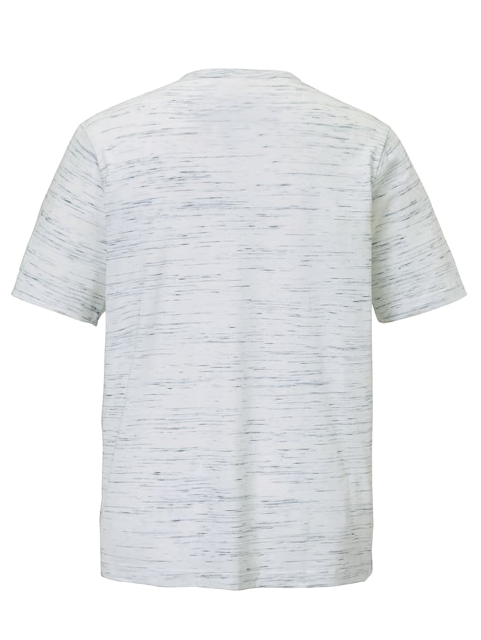 T-shirt col tunisien en fil flammé