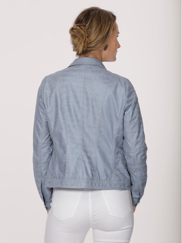 Faux leather blazer in an embossed finish